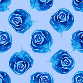 Blue roses - seamless pattern — Stock Vector