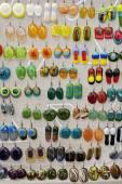 Fused glass handmade jewelry — Stock Photo