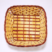 Top view of the bamboo basket — Stock Photo