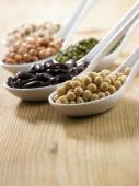 Variety of beans group — Stock Photo