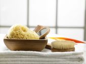 Sponge in the bath room — Stock Photo