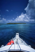 View of one of the many Belize islands — Stock Photo