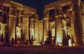 Luxor temple at night — Stock Photo