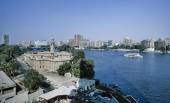 View of the city and the Nile river — Stok fotoğraf