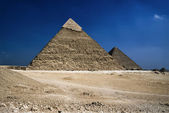 Cairo, Chefren and Cheops Pyramids — Stock Photo