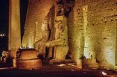 Luxor, Luxor temple at night — Stock Photo