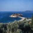 Постер, плакат: Coastline and Sveti Stefan Island
