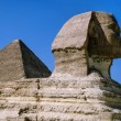 Sphinx and Cheops Pyramid — Stock Photo #53805741