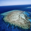 Aerial view of the huge coral reef — Foto Stock #54891589