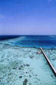 View of the huge coral reef from the lighthouse — Stock Photo