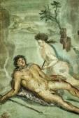 Italy, Pompei, original roman fresco — Stock Photo