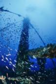 Sunken ship wreck — Stock Photo