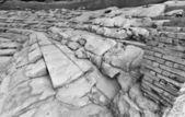 Ruiny greckiego anphitheatre — Zdjęcie stockowe