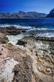 View of the sicilian rocky coastline — Stock Photo