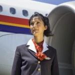 Stewardess near the airplane — Stock Photo #61116879