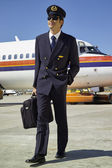 Male flight assistant — Stock Photo