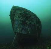 Sunken ship wreck — Stok fotoğraf