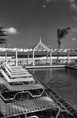 Tourist resort on the waterfront — Stock Photo