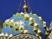 Russian church facade in Moscow — Stok fotoğraf