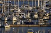 Luxe jachten in de jachthaven — Stockfoto