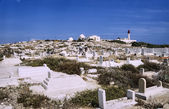 Muslim cemetery in Tunisia — Stock Photo