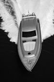 Aerial view of luxury yacht — Stock Photo