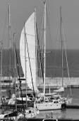 Luxus-Yachten in der marina — Stockfoto