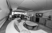 Alfamarine 78 luksusowy jacht — Zdjęcie stockowe