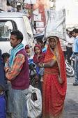 Indian woman at the Uttar Pradesh market — Stock Photo