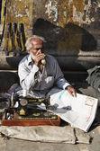 Calle taylor en el mercado de Uttar Pradesh — Foto de Stock