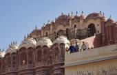 Indian people at the Four Winds Palace — Stock Photo