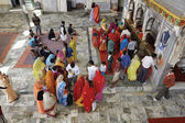 Indian people in a hindu temple — Stock Photo