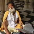 Old indian Sadhu in a Hindu Temple — Stock Photo #77851688