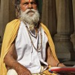 Old indian Sadhu in a Hindu Temple — Stock Photo #77851714