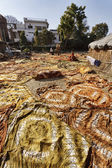 Indian sarongs drying under the sun — Stock Photo