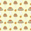 Seamless pattern with abstract mushrooms — Stock Vector #63423689