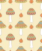 抽象的な茸のシームレス パターン — ストックベクタ