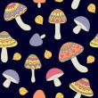 Seamless pattern with abstract mushrooms — Stock Vector #68874325