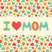 I love mom. — Stock Vector
