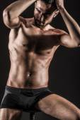 The Muscular Young Sexy Naked Cute Man — Stock Photo