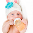 Portrait of a four months old baby — Stock Photo #76182747