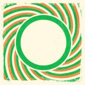 Swirly stripes design with label in Irish national colors — Vettoriale Stock
