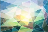 Polygon mosaic background.Vector illustration — Stock Photo
