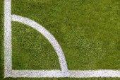 Soccer field corner Topview — Stockfoto