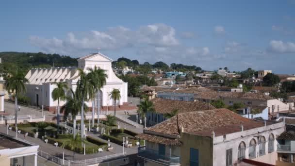 Establecimiento de la ciudad de Trinidad — Vídeo de stock