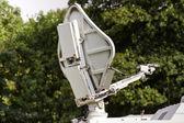 Mobile satellite antenna — Stock Photo