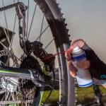 Bike chain oiling — Stock Photo #67204085
