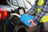 Car refueling on the road — Stock Photo