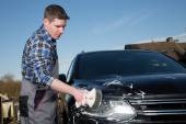 Car cleaning service man — Stock Photo