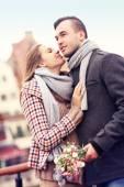 Romantic couple on a date — Stockfoto